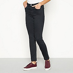 J by Jasper Conran - Dark grey 'Twill' slim fit jeans