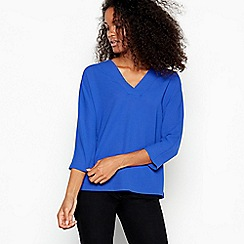 J by Jasper Conran - Blue V-neck Top