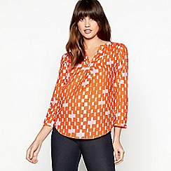 8bde9c26a5ede7 J by Jasper Conran - Orange Square Print Shirt