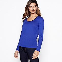 J by Jasper Conran - Bright blue 'perfect tee' long sleeve top