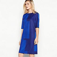 J by Jasper Conran - Blue square print knee length tunic dress