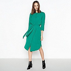 ae54cd66634a68 J by Jasper Conran - Green Batwing Twill Midi Shirt Dress