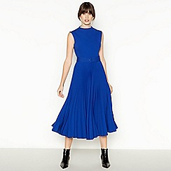 J by Jasper Conran - Blue Pleated Midi Dress