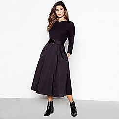 J by Jasper Conran - Black utility belted midi dress
