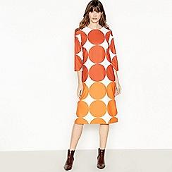 J by Jasper Conran - Multicoloured Circle Print Knee Lenth Tunic Dress