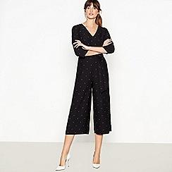 J by Jasper Conran - Black Spot Print Jumpsuit