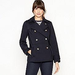 J by Jasper Conran - Navy Double Breasted Mac Coat