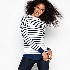 J by Jasper Conran - Ivory Breton Striped Turtleneck Jumper