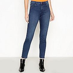 J by Jasper Conran - Dark Blue Dark Wash 'Lift and Shape' Slim Fit Jeans