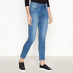 J by Jasper Conran - Blue Mid Wash 'Lift and Shape' Slim Fit Jeans