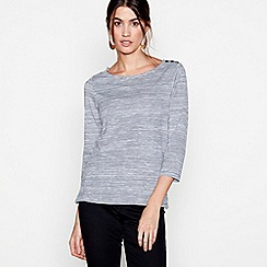 J by Jasper Conran - Navy striped boat neck top