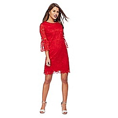 The Collection Petite - Red lace mini petite shift dress