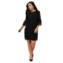 The Collection Petite - Black lace mini petite shift dress