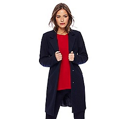 The Collection Petite - Navy smart petite city coat