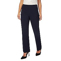 The Collection Petite - Navy straight leg petite trousers