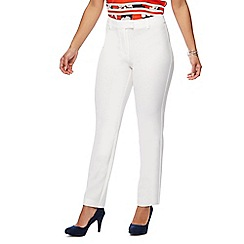 The Collection Petite - Ivory slim leg petite trousers