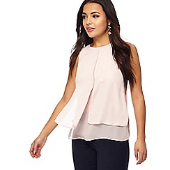The Collection Petite - Light pink ribbed neck petite shell top