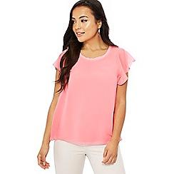 The Collection Petite - Pinkchiffon short sleeve petite top
