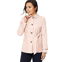 The Collection Petite - Light pink petite mac coat