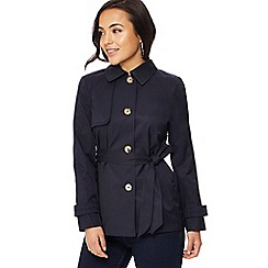 The Collection Petite - Navy petite mac coat
