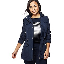 The Collection Petite - Navy hooded petite jacket