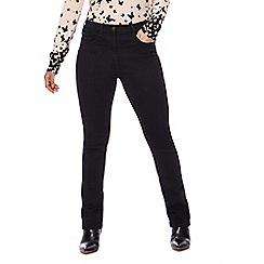 The Collection Petite - Black straight leg petite jeans