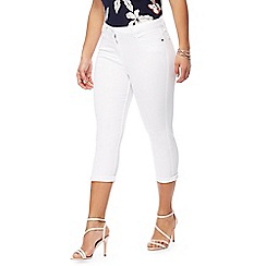 The Collection Petite - White cropped petite jeans