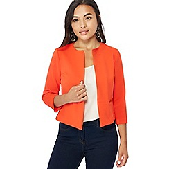 The Collection Petite - Orange textured petite jacket