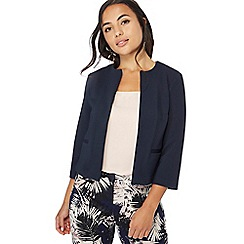 The Collection Petite - Navy textured petite jacket