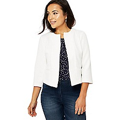 The Collection - Ivory textured petite jacket