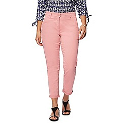 The Collection Petite - Light pink tapered petite chino trousers