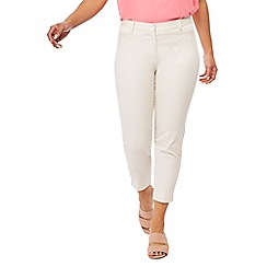 The Collection Petite - Ivory sateen slim fit petite trousers