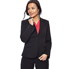 The Collection Petite - Black long sleeves petite suit jacket