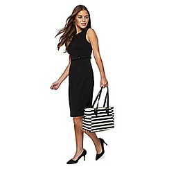The Collection Petite - Black sleeveless knee length petite pencil dress