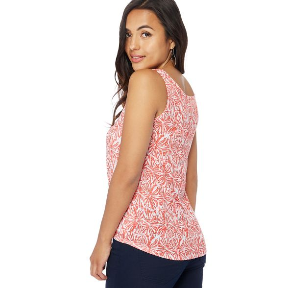 tie printed petite front Petite Collection vest top Peach The wgIfPx7P