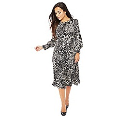 The Collection Petite - Natural leopard print midi petite dress