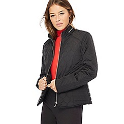 The Collection Petite - Black quilted petite jacket