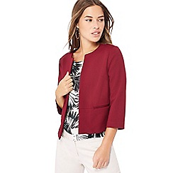 The Collection Petite - Dark red textured petite jacket