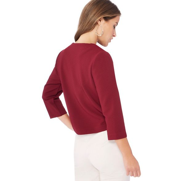 The Collection jacket Dark textured petite red Petite qFxd10rwx