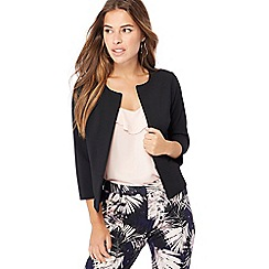 The Collection Petite - Black textured petite jacket
