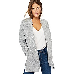 The Collection Petite - Grey textured lightweight petite coat