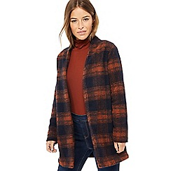 The Collection Petite - Multicoloured checked textured lightweight petite coat