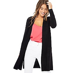 The Collection - Black longline edge to edge petite cardigan