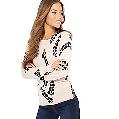 The Collection Petite - Pale pink bluebell print petite jumper
