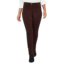 The Collection Petite - Brown straight leg petite jeans