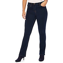 The Collection Petite - Blue dark wash petite bootcut jeans