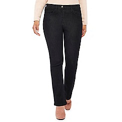 The Collection Petite - Black dark wash petite bootcut jeans