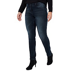 The Collection Petite - Dark Blue Mid Rise Slim Petite Jeans