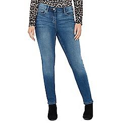 The Collection Petite - Mid Blue Wash Slim Leg Petite Jeans