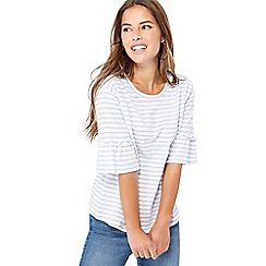 The Collection Petite - Blue striped petite top
